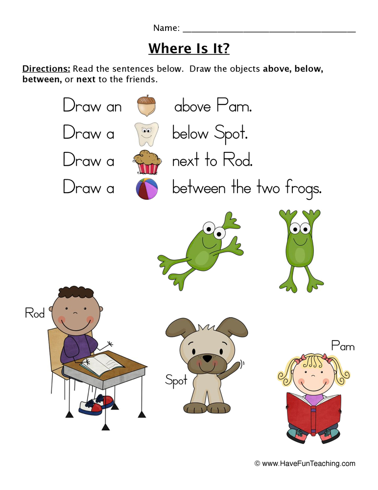 Following Directions Worksheet – Coloring