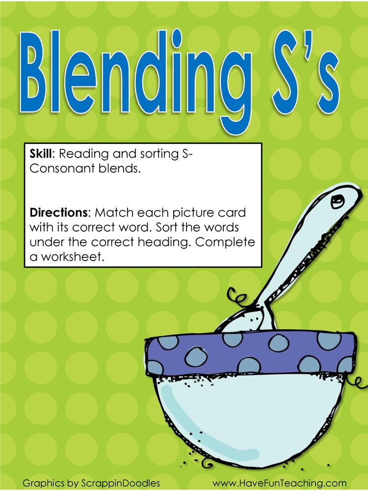 blending s s blends activity