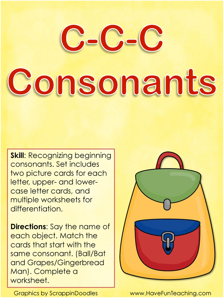 c c c consonants beginning consonants activity