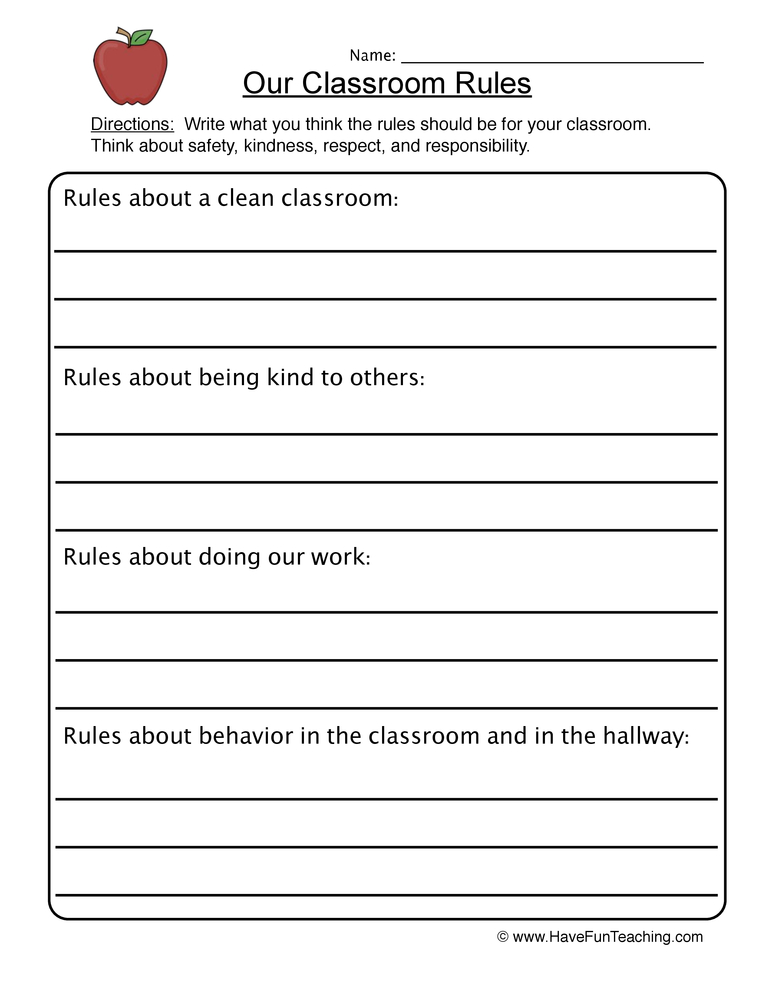 Worksheets Classroom Rules Worksheet classroom rules worksheet worksheet