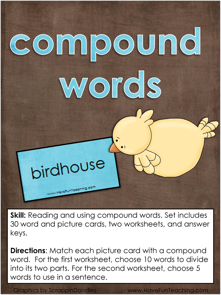 compound words activity