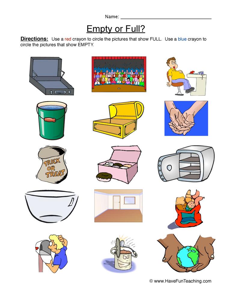 empty full worksheet 1