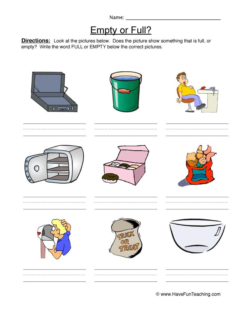 empty full worksheet 2