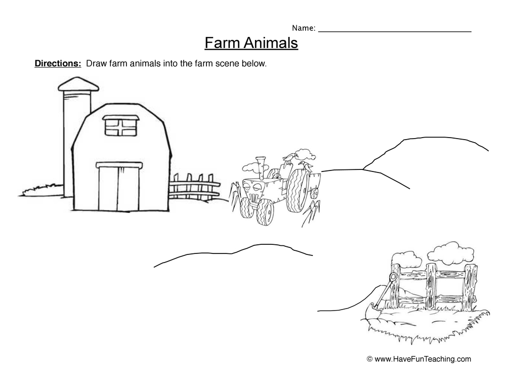 farm animals worksheet 2