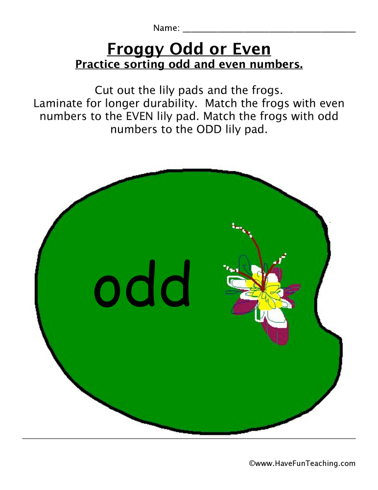 froggy odd even game