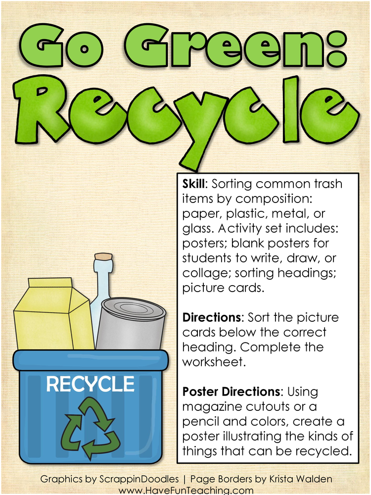 Go Green Recycle Activity