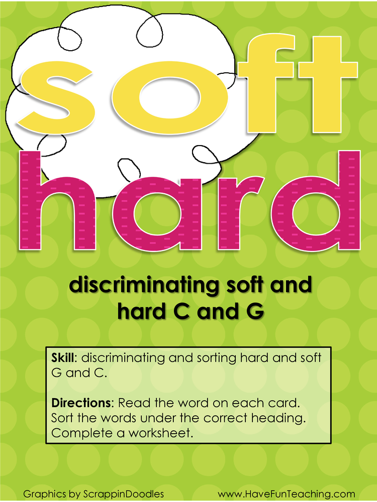 Printable Worksheets soft and hard g worksheets : and Soft C and G Activity
