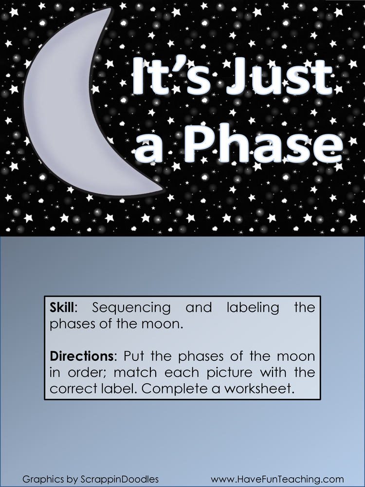 its just a phase phases of the moon activity