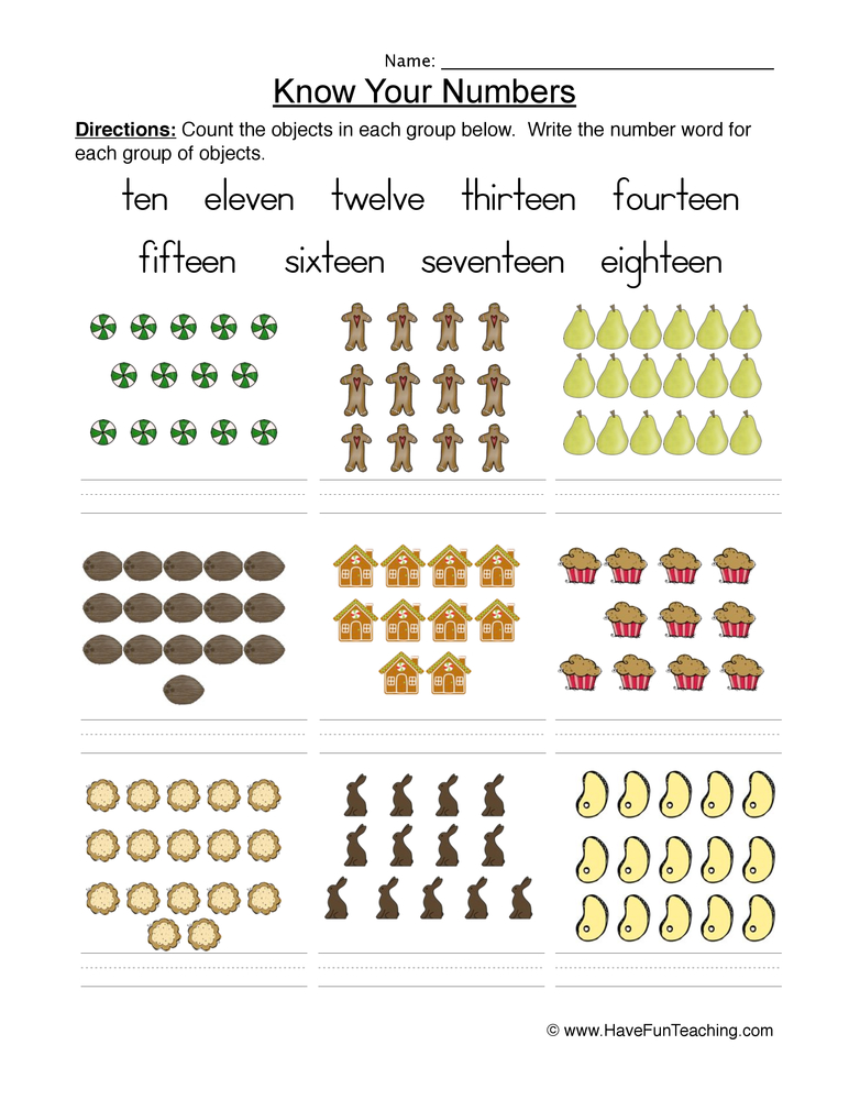 Number Recognition Worksheet Have Fun Teaching