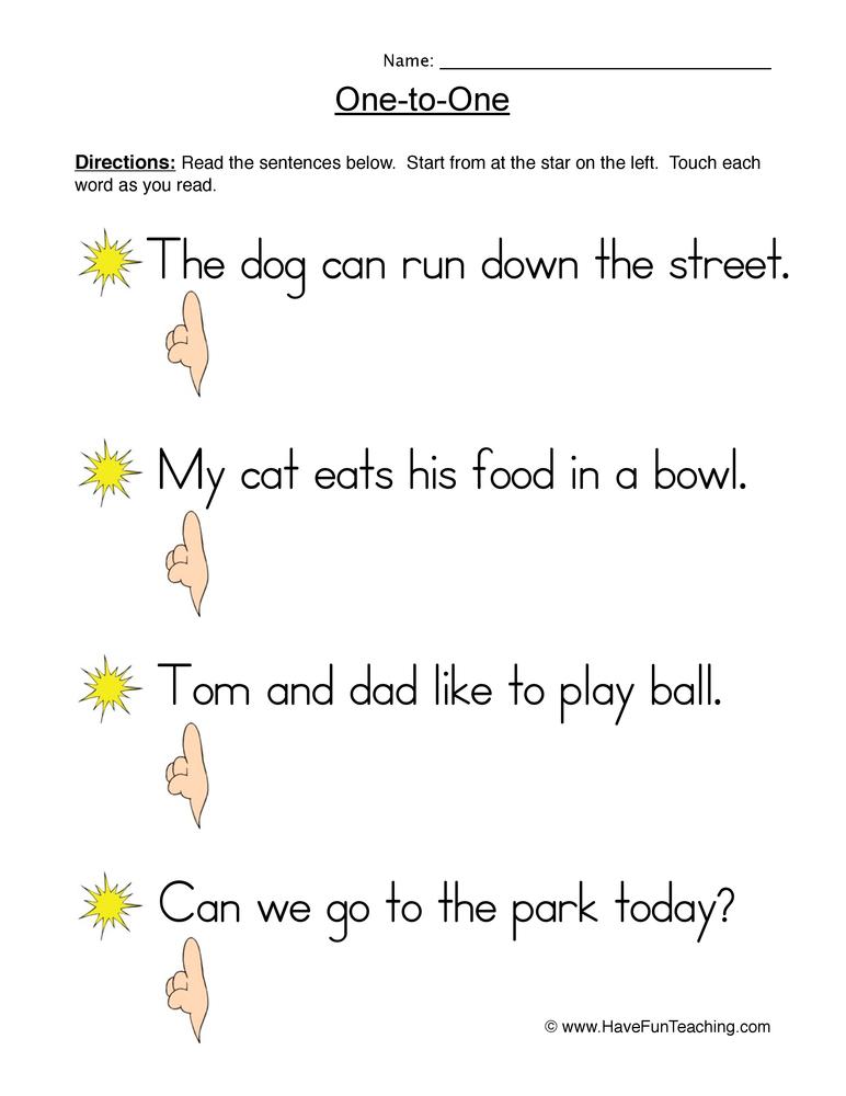 reading simple sentences – Simple Sentences Worksheet