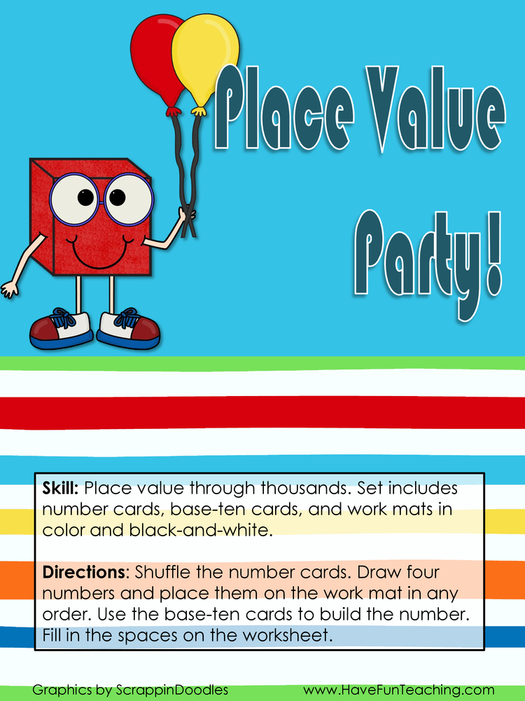 Place Value Party Place Value Activity
