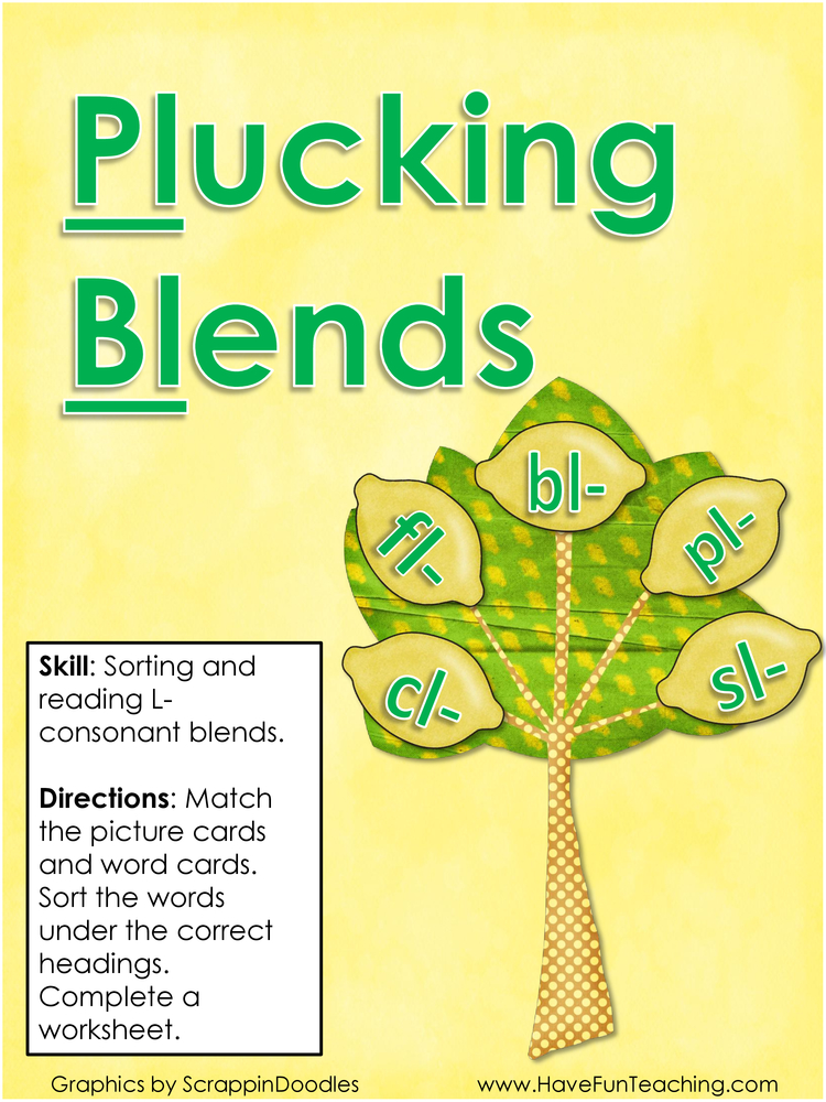 plucking blends l blend activity