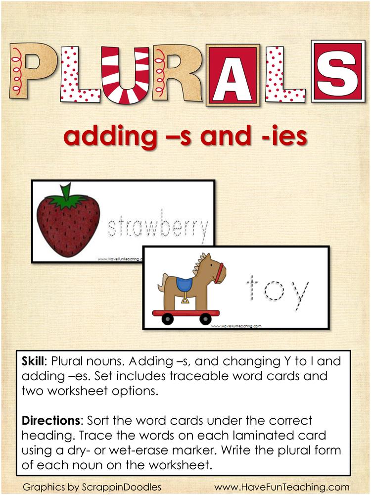 plurals s ies activity