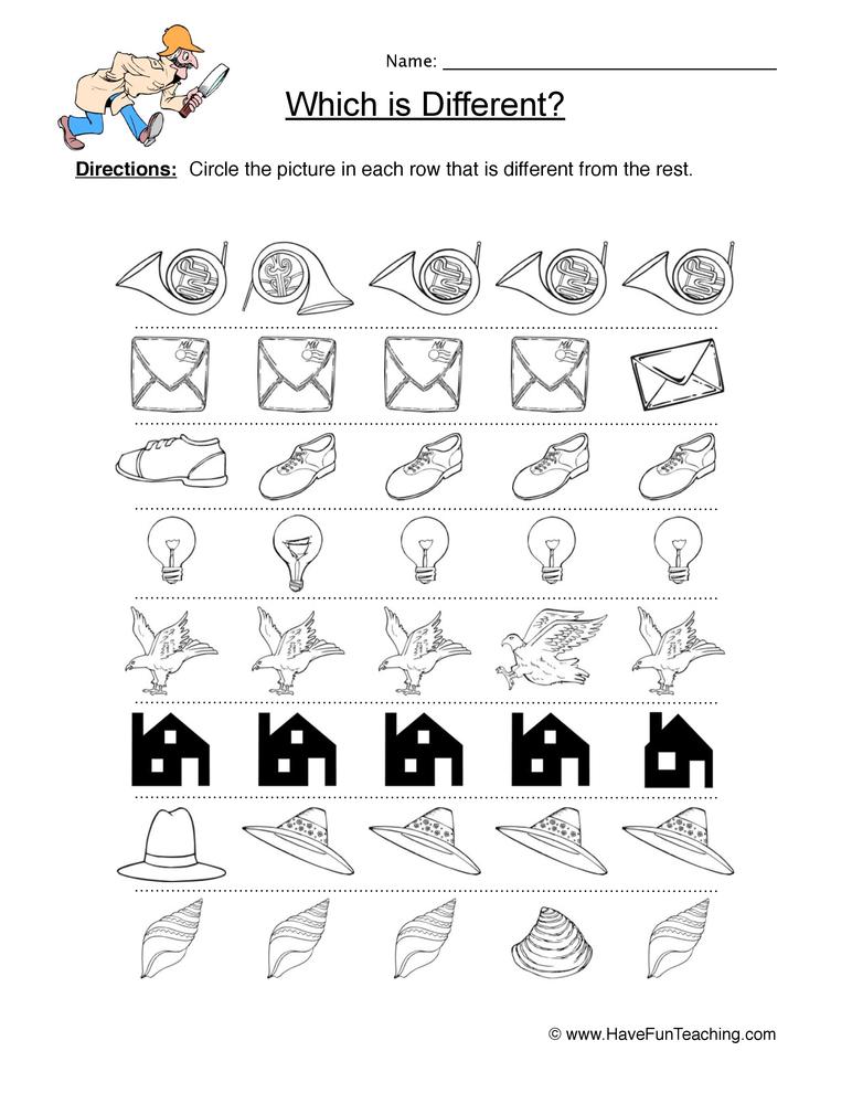 same different worksheet 9