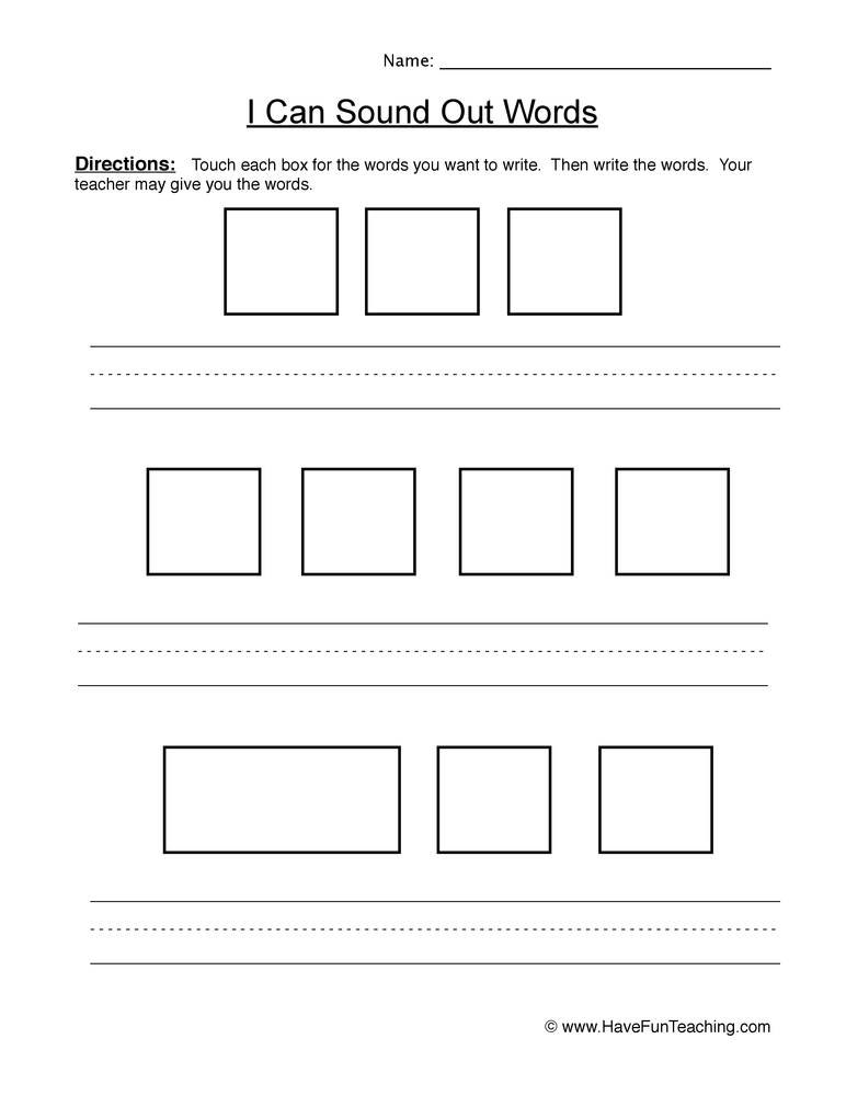 Sound Out Words Worksheet 2