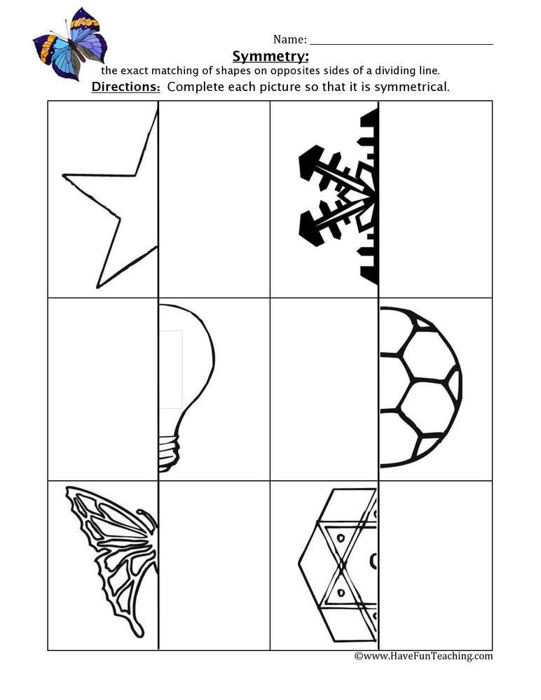 Symmetry Worksheet Have Fun Teaching