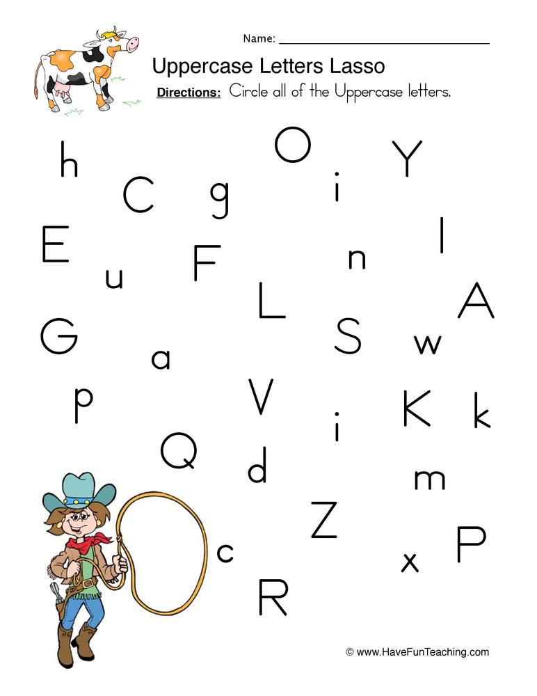 Identifying Uppercase Letters Worksheet | Have Fun Teaching