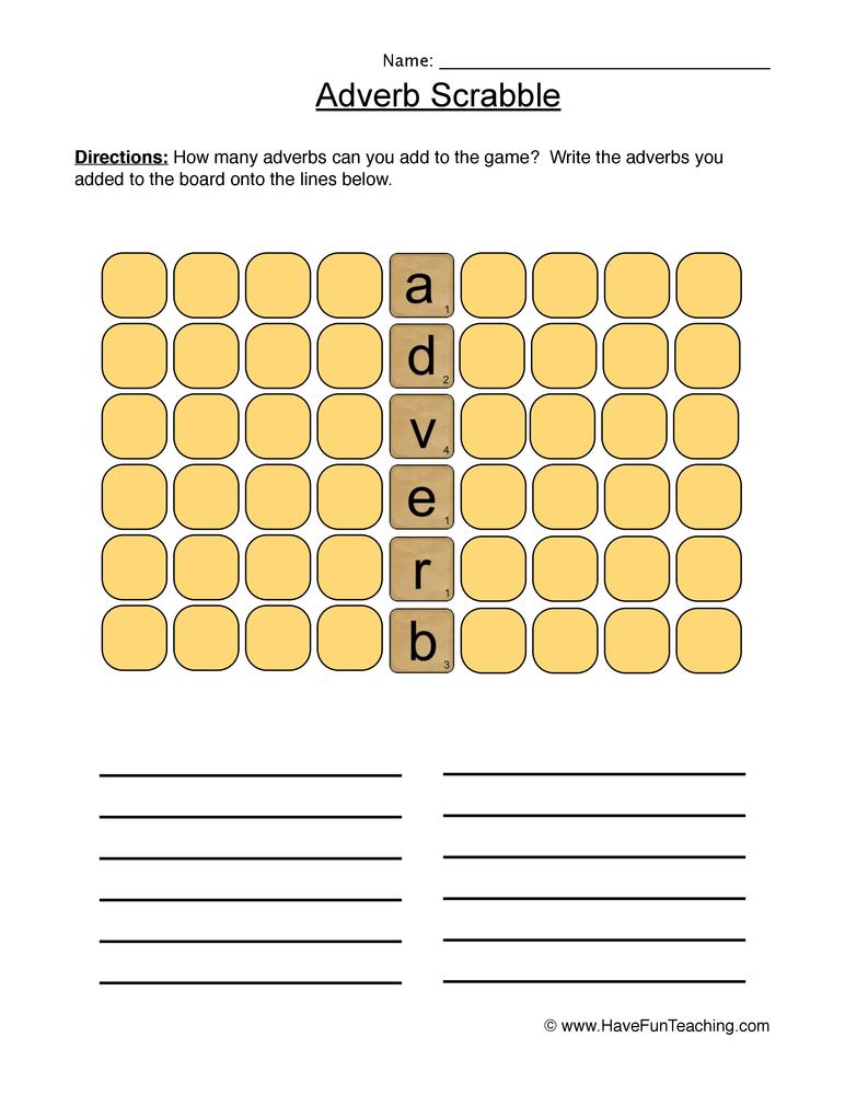 adverbs worksheet 4