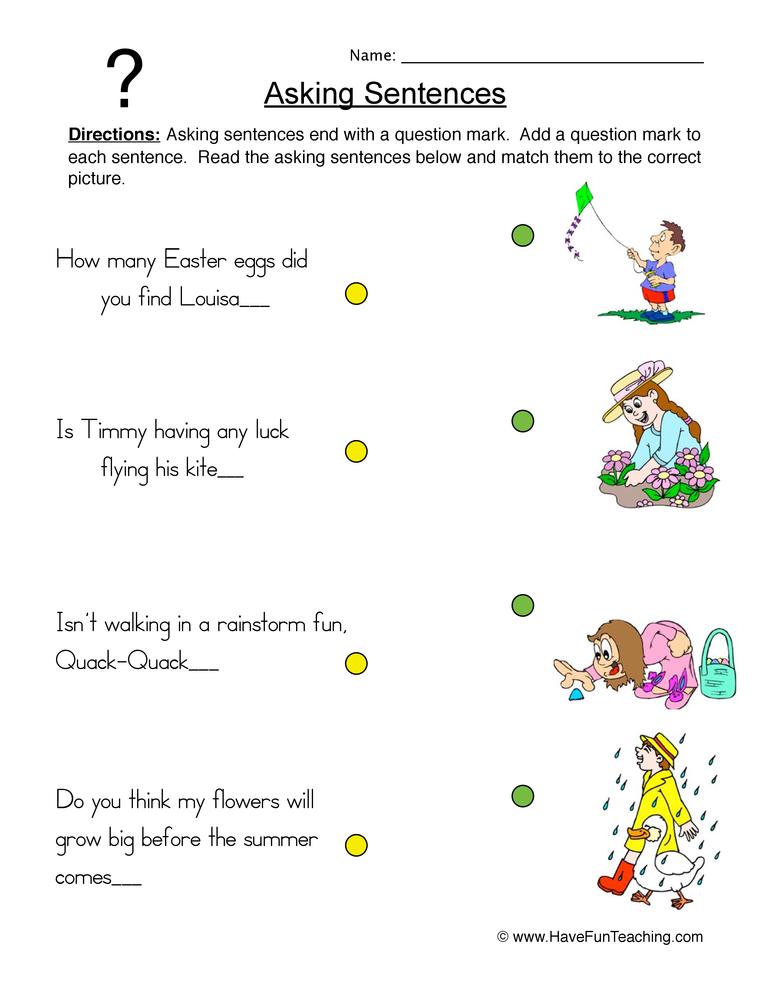 telling and asking sentences worksheet first grade complete in plete sentence worksheet free. Black Bedroom Furniture Sets. Home Design Ideas