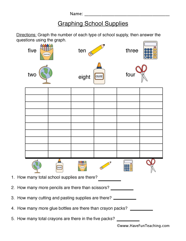 Graphing Worksheets – Graphing Worksheets for 2nd Grade