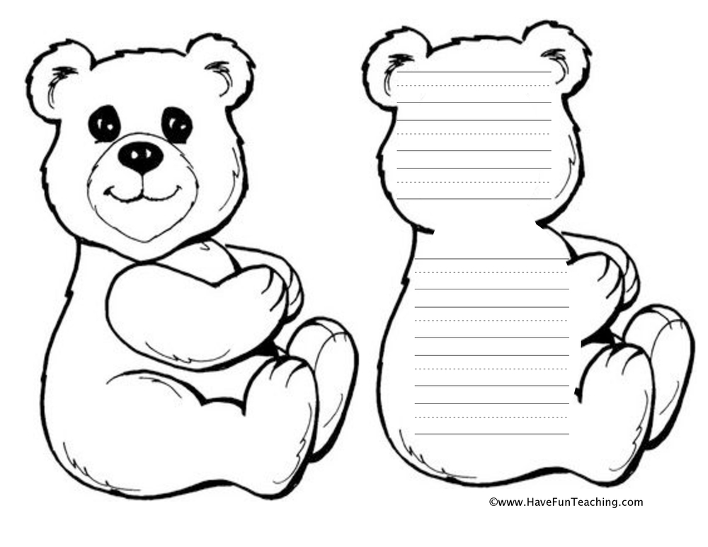 bear shape book worksheet
