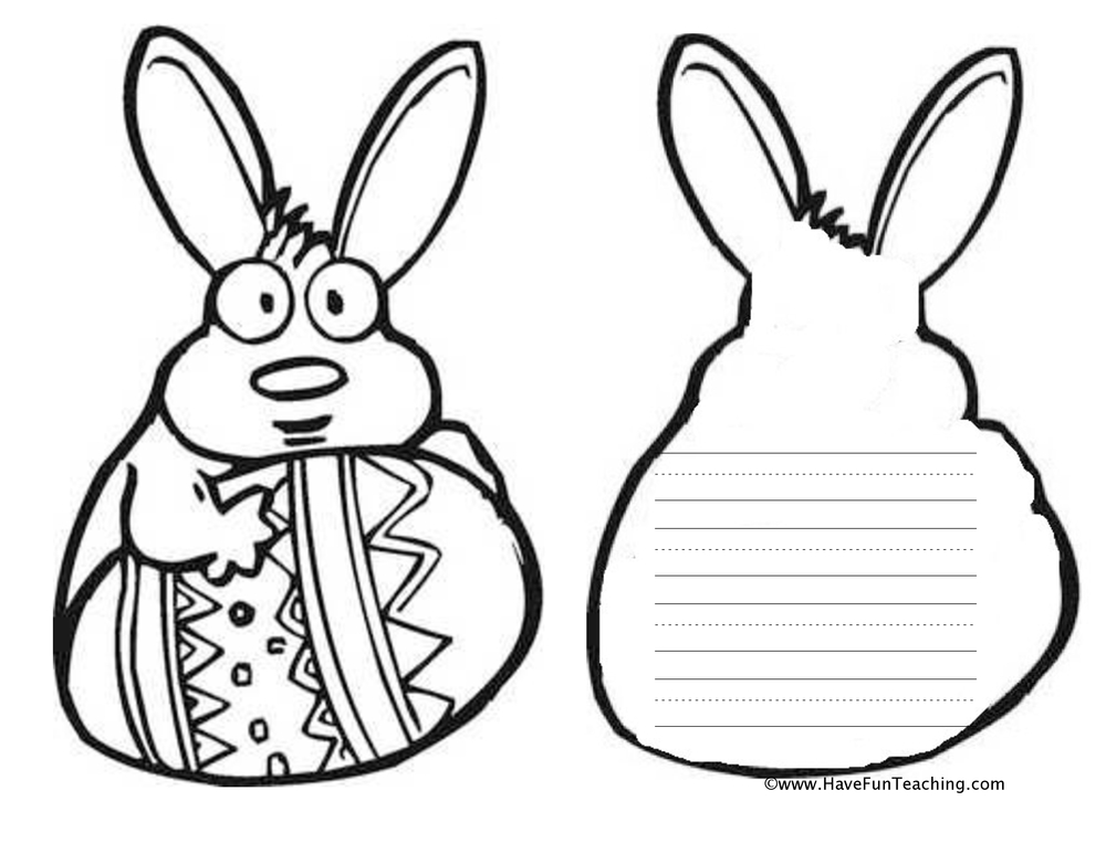 bunny shape book worksheet