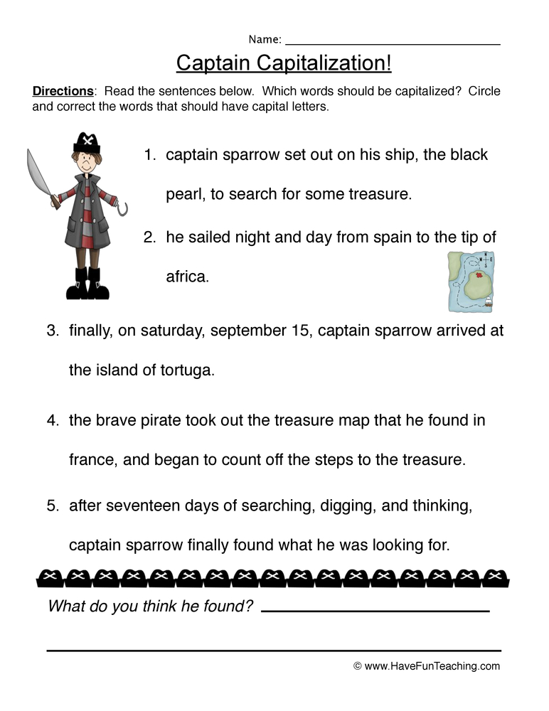 Resources | English | Capitalization | Worksheets