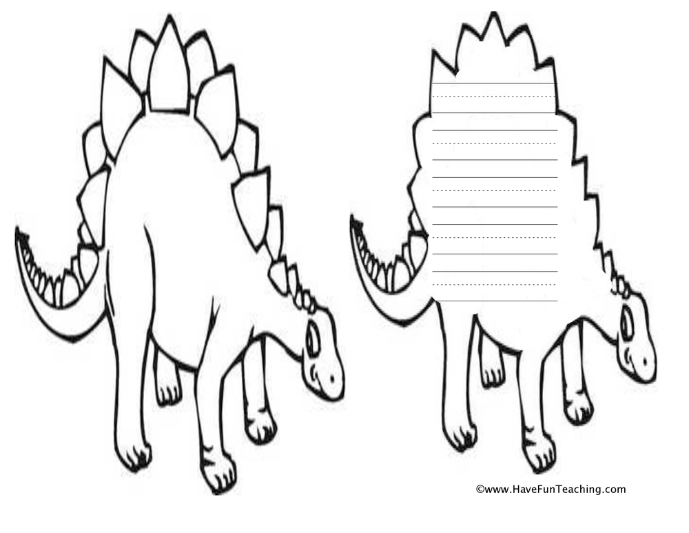 dino shape book worksheet