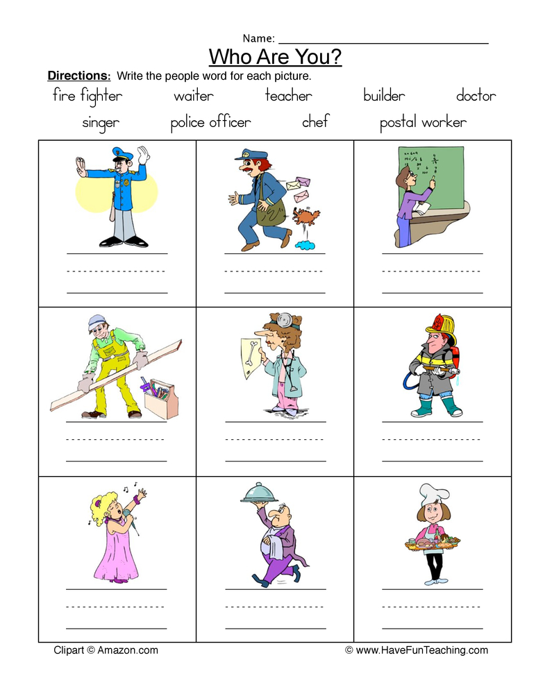 family names worksheet 2