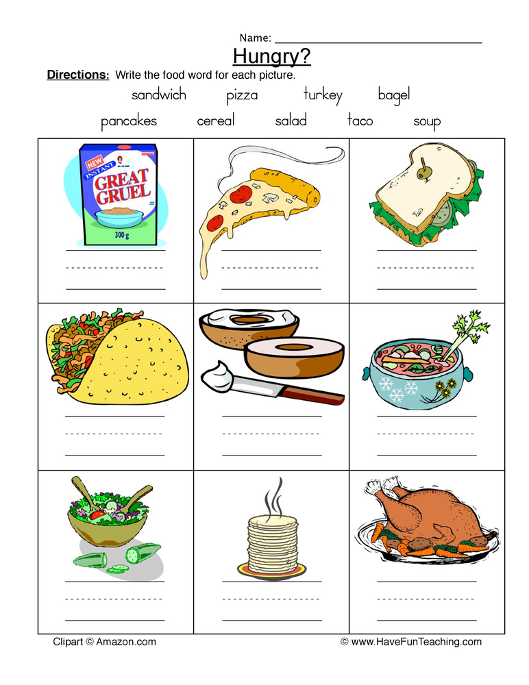 Health and Nutrition Worksheets | Have Fun Teaching