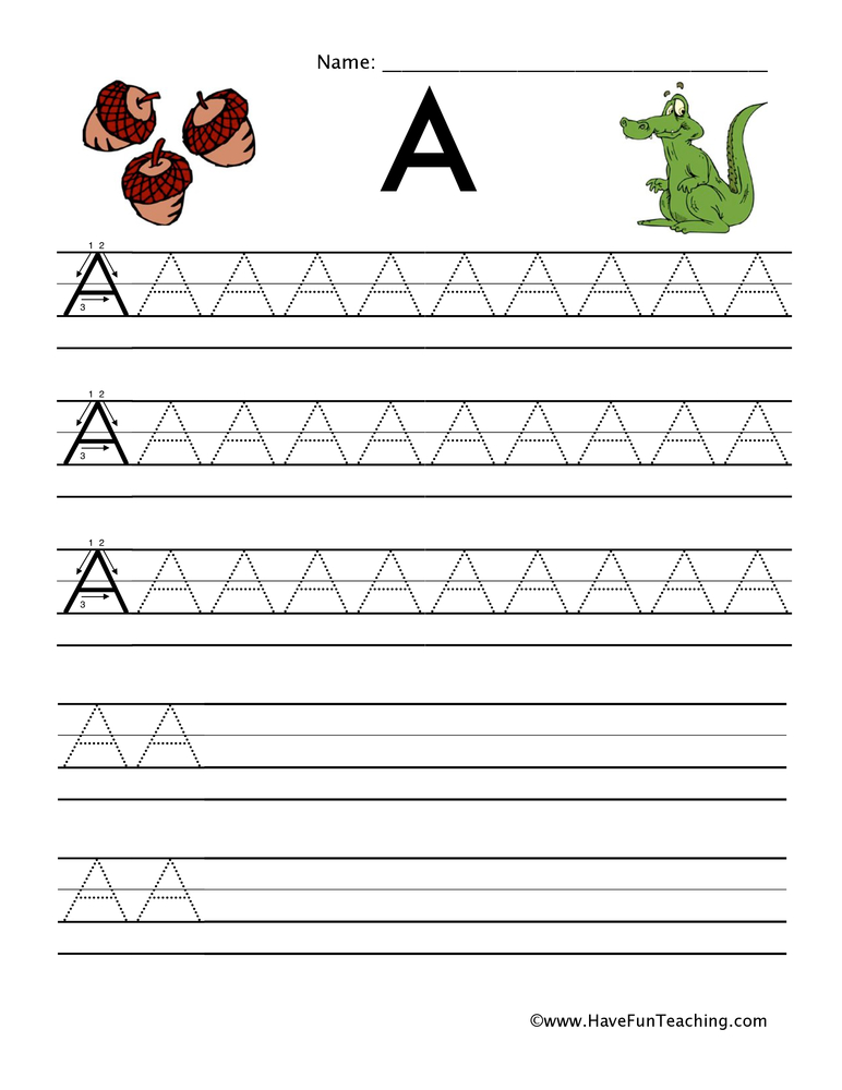 handwriting capital lowercase letters worksheet
