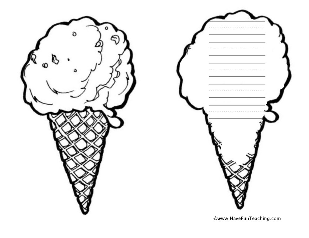 ice cream shape book worksheet
