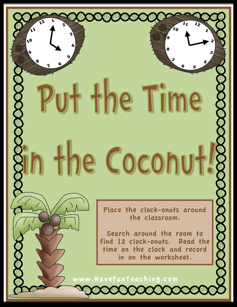 put the time in the coconut activity