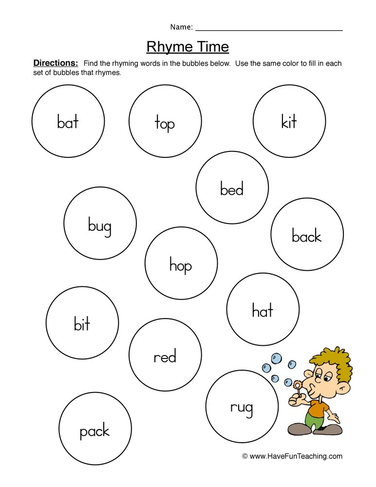 math worksheet : rhyming worksheets  have fun teaching : Rhyming Kindergarten Worksheets