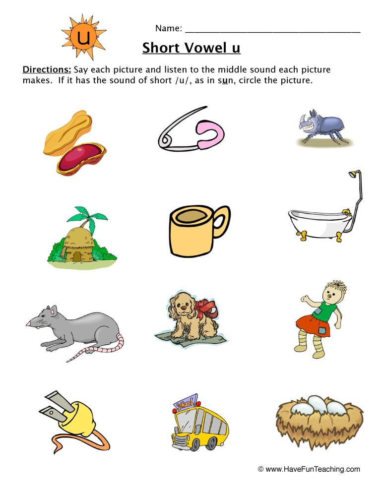 math worksheet : short vowel worksheets  page 2 of 3  have fun teaching : Kindergarten Short Vowel Worksheets