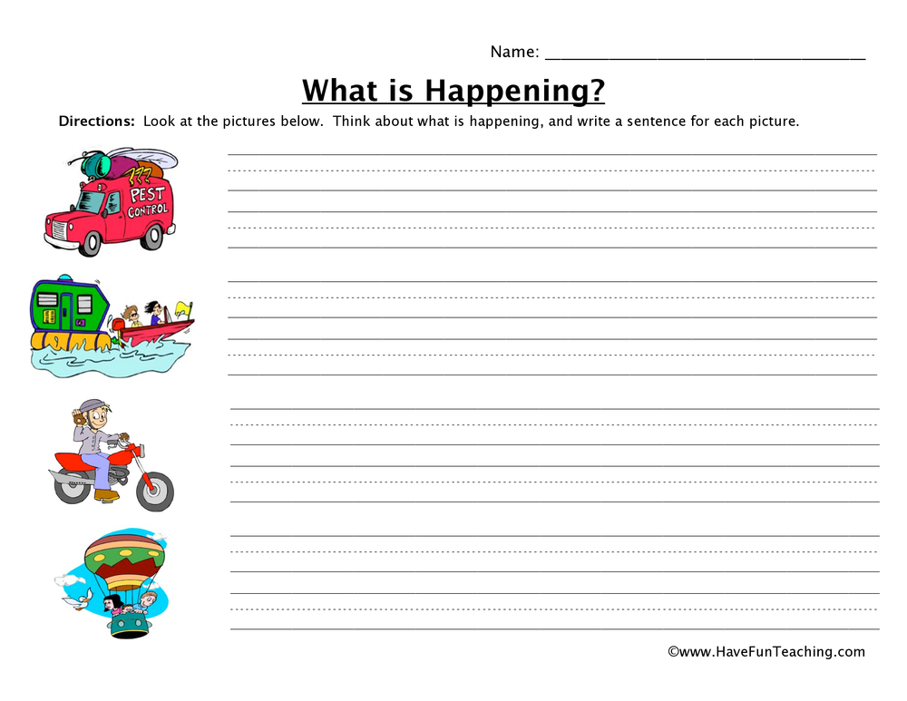 transportation sentence worksheet