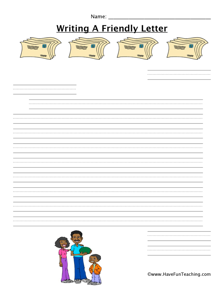 writing a letter worksheet collection