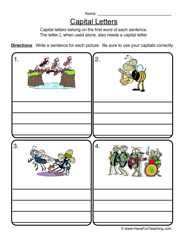 capitalization worksheet 2