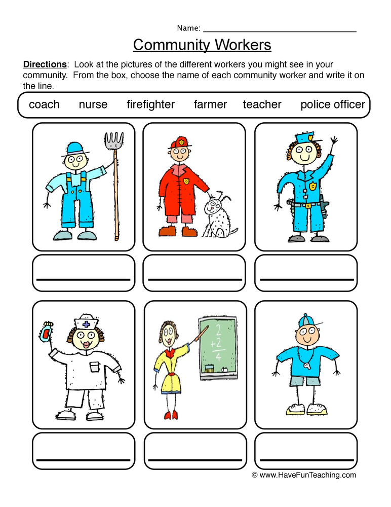 community worksheet 1