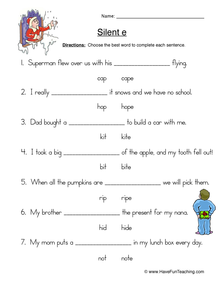 cvc e worksheet 2