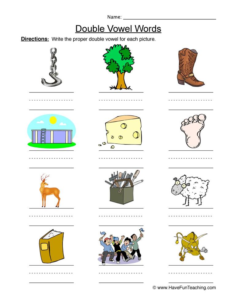 Vowel Worksheets - Have Fun Teaching