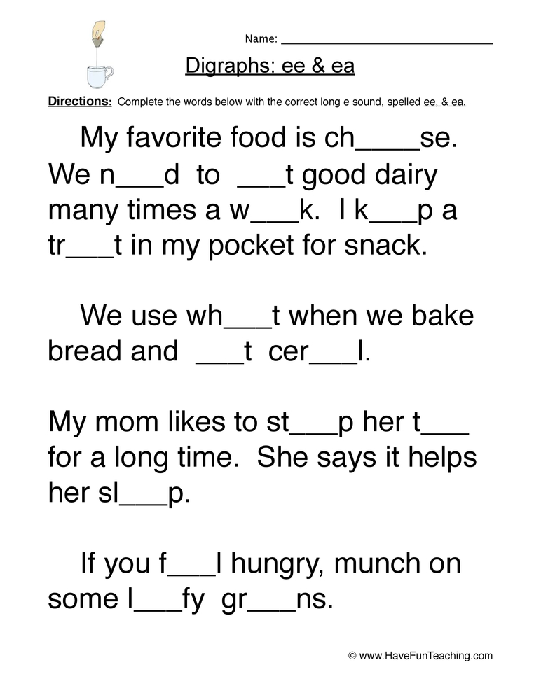 Digraphs Worksheets | Have Fun Teaching