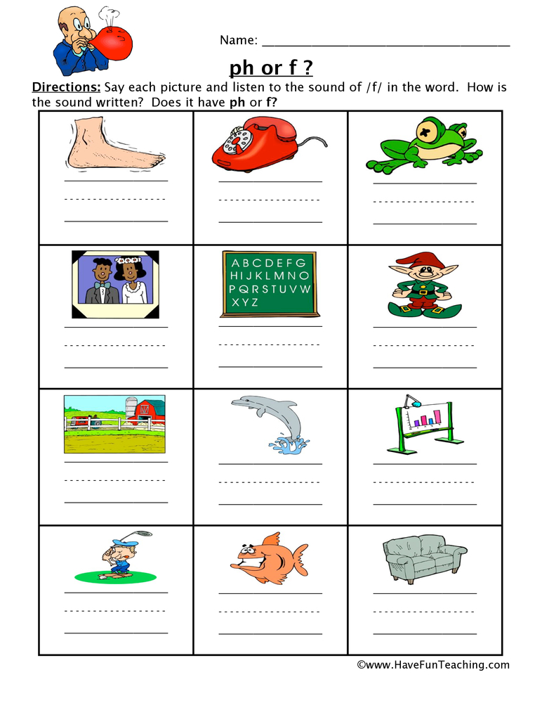 F or PH Worksheet – Ph Worksheet
