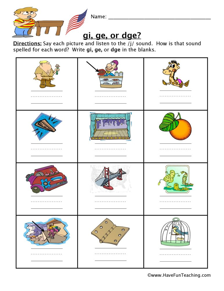 gi ge dge worksheet