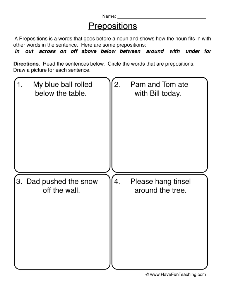 noun sort worksheet