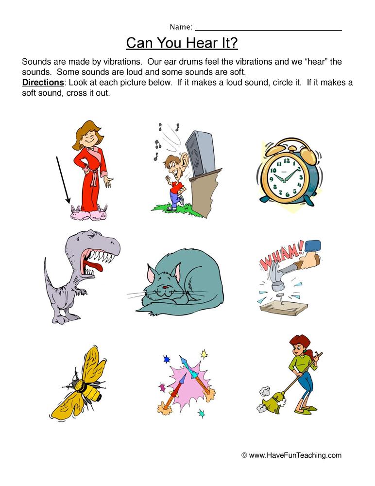 Can You Hear It? Worksheet | Have Fun Teaching