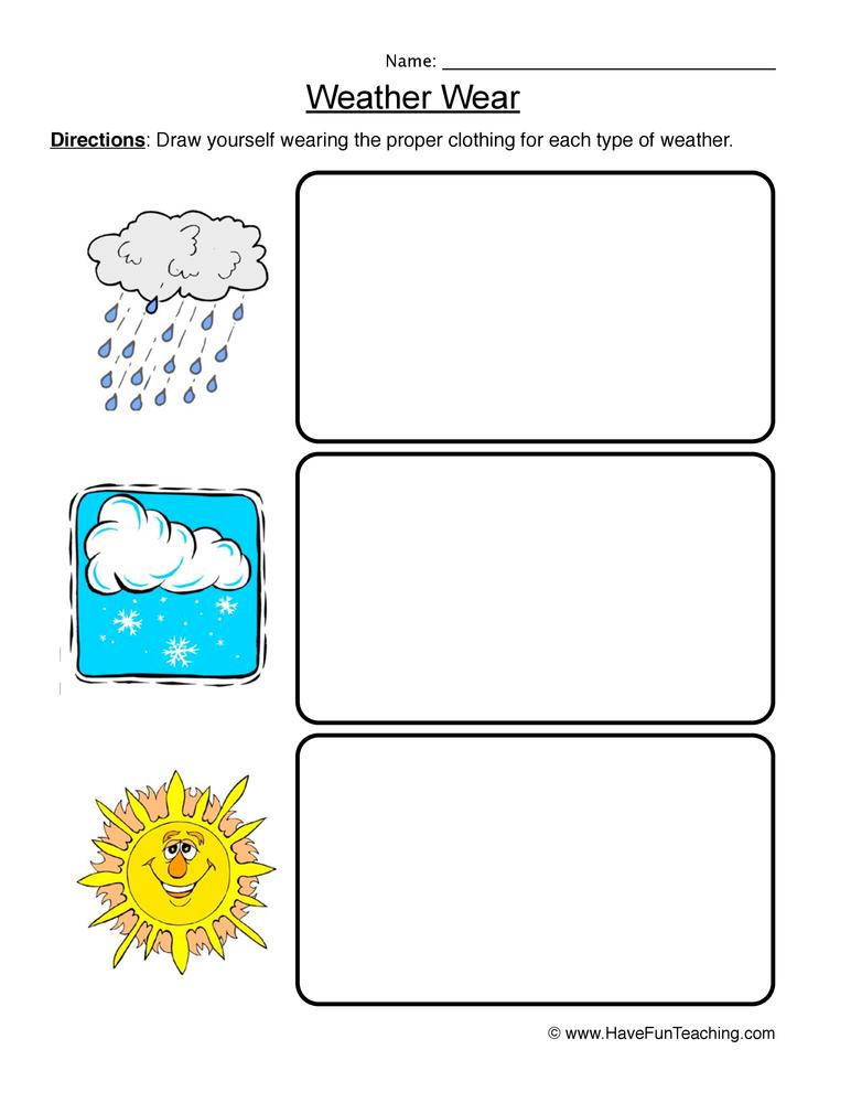 weather worksheet 3