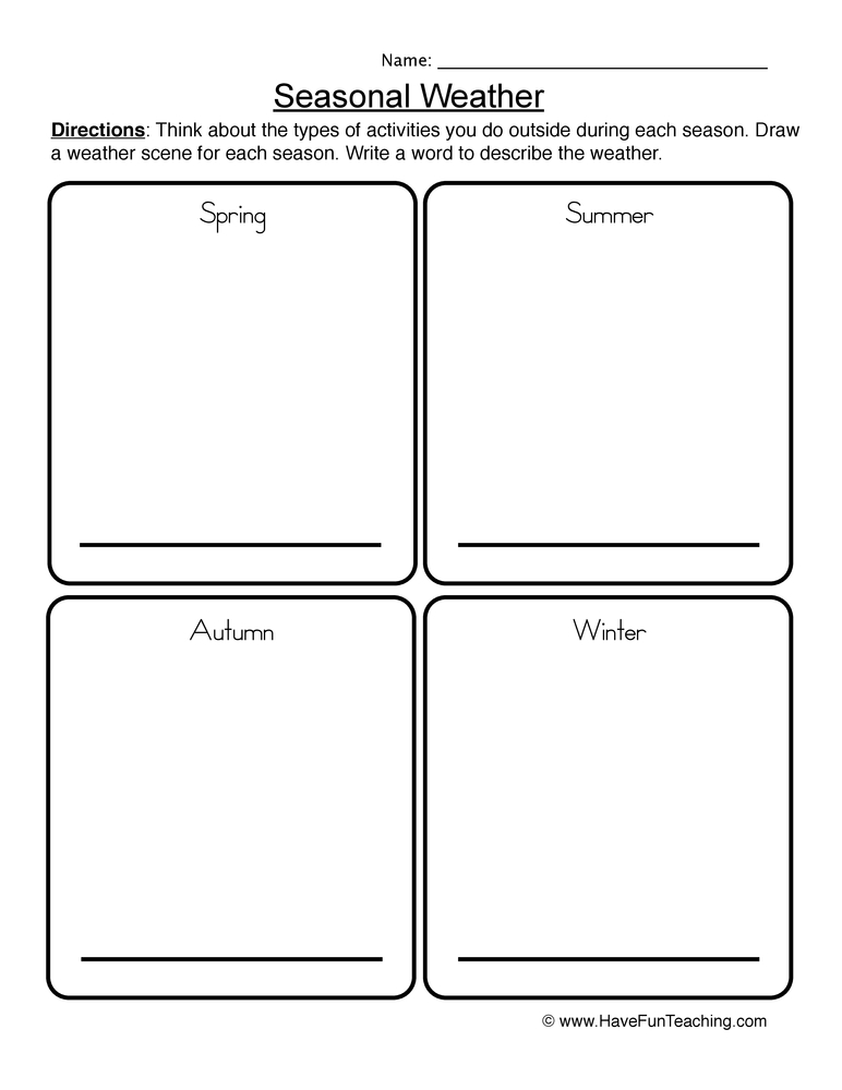 math worksheet : weather names worksheet  have fun teaching : Weather Worksheet Kindergarten