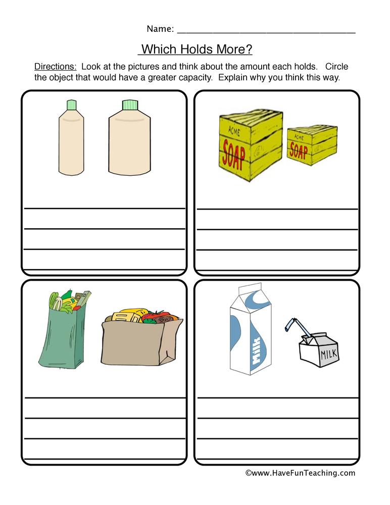 capacity worksheet 2