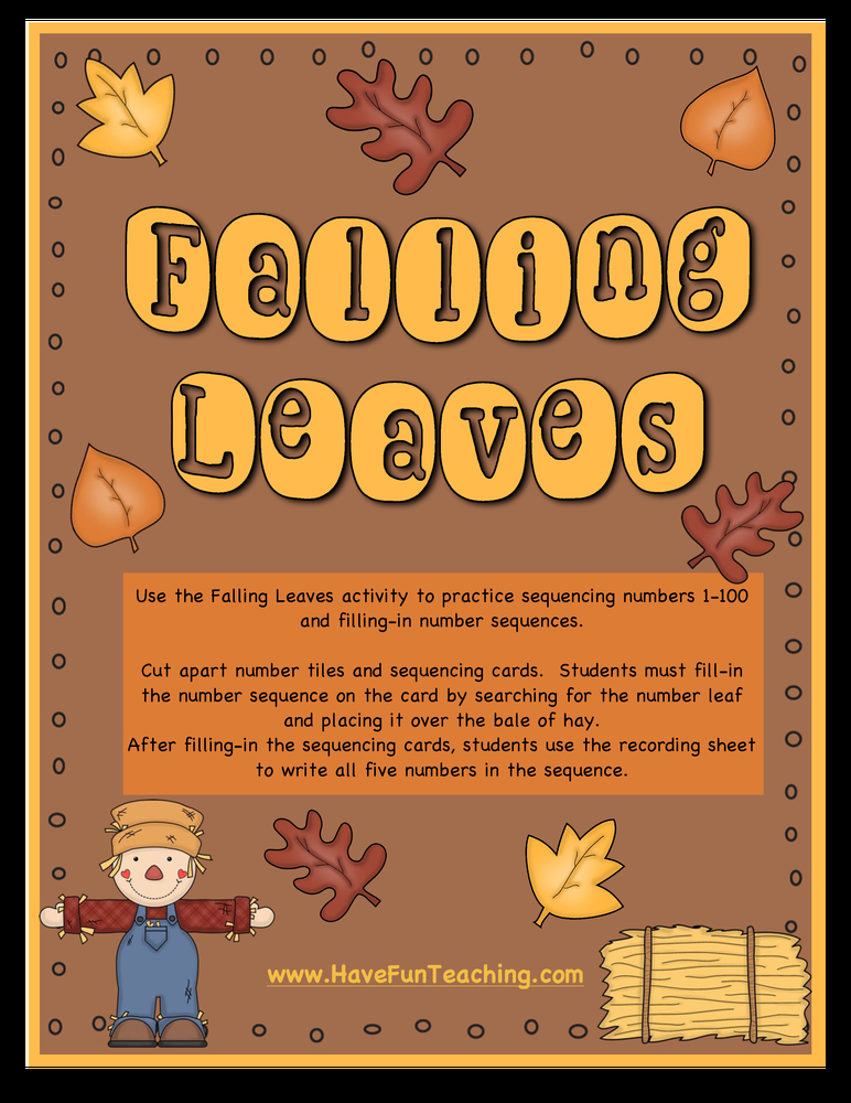 Counting Leaves Number Sequence Activity